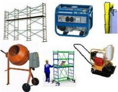 Suministro de equipo de construcción