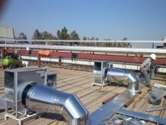 Servicios de ventilación, extractores de aire,