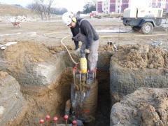 Demolición de pilar con martillos neumáticos